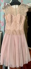 Ted Baker Pink Gold Dress New Size 0 UK 6