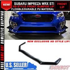 For 15-18 Subaru WRX STI 4Dr HD Style Front Bumper Lip Spoiler - PU