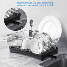 Stainless Steel Kitchen Dish Rack Bowl Drying Utensil Organizer Holder Drainer