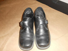 Women or girls Black (White Mount) buckle Ankle shoes, size 10M Great condition.