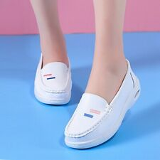Womens Breathable Doctor Nurse Shoes Round Toe Loafers Air Cushioning Work Boots