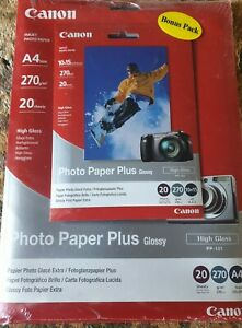 3 x Canon Photo Paper Plus Glossy, A4 AND  10x15cm, 270gsm 120 sheets sealed new
