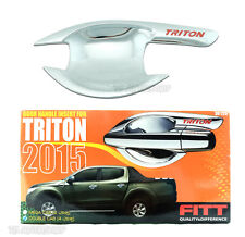 FITT Chrome Bowl Insert Housing 4Dr Cover For Mitsubishi Triton L200 4x4 2015 16