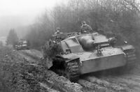 WWII photo German StuG III and Stuh 42 on the march in Belgium 18#