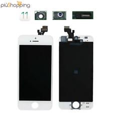 TOUCH SCREEN LCD DISPLAY RETINA PER APPLE IPHONE 5 VETRO SCHERMO BIANCO + FRAME