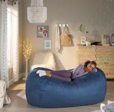 New ListingAdult Bean Bag Chair 6Ft Dorm Large Lounger Sleeper Sofa Blue Oversized Kids New
