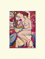 Art Nouveau Erotic Erotik Strong Female Beauty Nudes Gay Colour Sexual Art Print