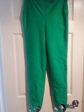 Etirel Stirrup Stretch Leggings Neon Green Made In France Sz 42 Long ( US S, M )