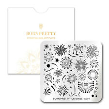 BORN PRETTY Nail Stamping Plate Square Fireworks Nail Art Nail Stamping Template