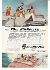 Vintage 1959 Evinrude Outboard Motor Starflite II Original Magazine Print Ad