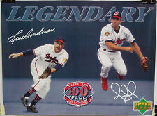 Cleveland Indians 100th Anniversary LEGENDARY Promotional Poster w/ Omar Vizquel