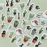 FT- 45Pcs/Box Cactus Plant DIY Paper Stickers Diary Decoration DIY Scrapbooking