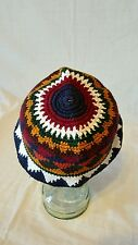 Handmade All Season Weather Hat - sz S - multi-color