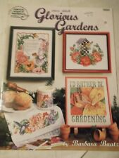 Glorious Gardens 18pg American School of Needlework Crossstitch pattern booklet