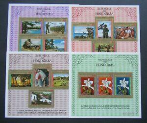 1970 VF MNH SHEETS HONDURAS AIRMAIL ANO SOBERANIA NACIONAL B426.5 START $0.99