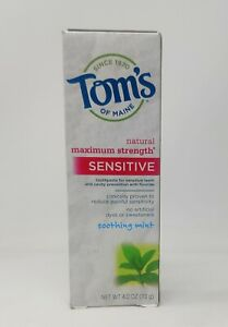 Tom's Natural Maximum Strength Sensitive Soothing Mint Toothpaste EXP 05/19