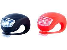 LED Leuchten Set 2-tlg weiß+rot Sicherheitslicht für Fahrrad Jogger Kinderwagen