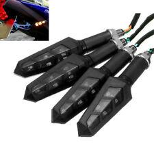 4x Turn Signals Light LED Flowing Blinker Motorbike Flashing Lights Indicators