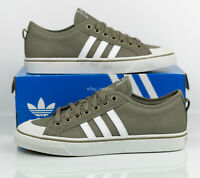 Adidas Originals Nizza Athletic Casual Sneakers Olive Green CM8572 Men's size 10
