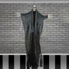 5ft Skeleton Head Reaper Halloween Hanging Scene Skull Set Decoration PROP SHOP