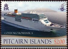 COSTA NEOROMANTICA (Romantica) Ocean Liner Cruise Ship Stamp (2013 Pitcairn)