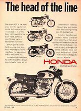 Vintage 1966 Honda Ad, CB450 Black Bomber, Super Hawk 305, Sport 160, Super 90