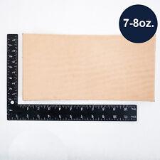 "Natural Veg Tan Tooling Cowhide Leather Pre-Cut Piece 6""x12"" 7/8 oz"