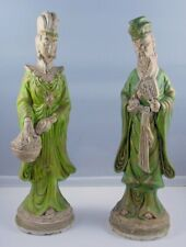 New ListingVintage Pair Of Chinese Wiseman And Woman Statue Ceramic Molds