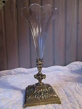 SUPERB FRENCH ANTIQUE BRONZE and GLASS VASE XIX th. C.