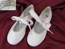 VINTAGE CHILD GIRLS PINK STEP DANCE SHOES MARKED w/METAL HEELS & TOES - CAPEZIO