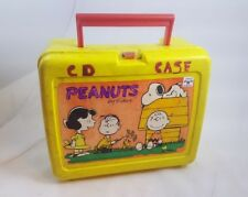 Plastic Peanuts Charlie Brown Lunch Box Thermos Brand. (W)