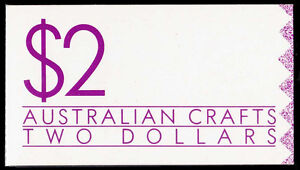 1988 $2 Australian Crafts booklet WHITE paper. Perfect condition  • FREE POST •
