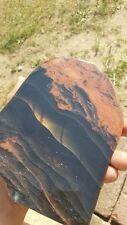 Glass Buttes Fire Obsidian Gorgeous slab, Gem Grade, Flame, fire, midnight lace