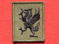 British Army Royal Regiment of Wales RRW TRF Badge Black Green.