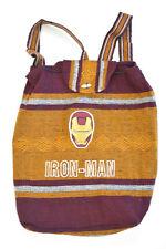 Iron Man Backpack Burgundy Yellow Drug Rug Mexican Baja Hemp Beach Bag Movie