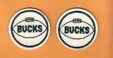 TWO OLD MILWAUKEE BUCKS BASKETBALL 2 inch PATCHES Unused Stock