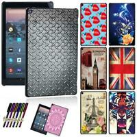Colorful Patterns Shell Case Cover For Amazon Fire HD 10 2019 9th Generation