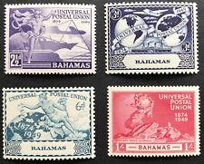 1949 Bahamas Universal Postal Union Set of 4 MUH Full Original Gum Comb. Postage