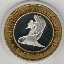 1996 Hacienda Flamenco Dancer .999 Fine Silver Strike $10 Casino Gaming Token