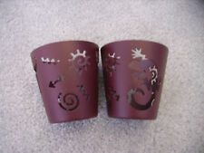 2 Partylite votive/tealight candle holders - lizard design
