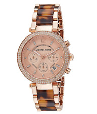 New Michael Kors Parker Tortoise & Rose MK5538 Wrist Watch for Women