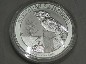 BU 2016 Australian Kookaburra 1 troy oz 999 Fine Silver AUSTRALIA.  #3