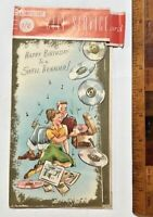 VINTAGE 1960S GIRL & BOY SWELL TEENAGERS AUSSIE ROCK & ROLL BIRTHDAY CARD UNUSED