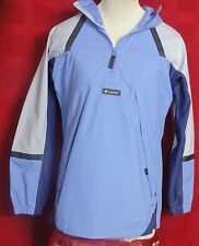 Women's Columbia Blue Nylon Packable 1/2 Zip Jacket with Hood