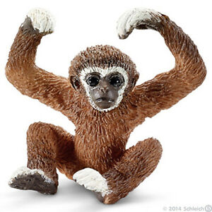 NEW WITH TAGS SCHLEICH 14718 Yong Gibbon Monkey - Asian Wild Life RETIRED