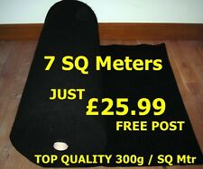 7 SQ METER OF ACOUSTIC BLACK CARPET CLOTH BASS BOX SHELF CAR VAN TRIM