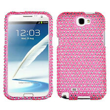 For Samsung Galaxy Note II 2 Crystal Diamond BLING Hard Case Cover Pink Dots