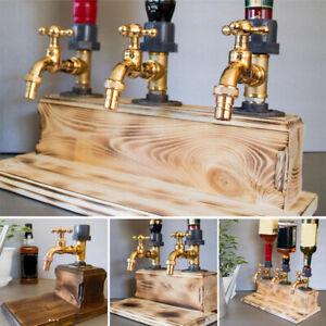 SimulationWood Dispenser Faucet Liquor Alcohol Whiskey Party Bar Beverage Faucet