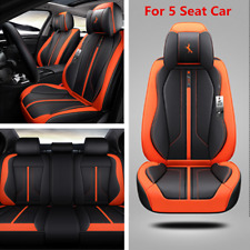 Luxury PU Leather 6D Surround Seat Cover Cushions For 5 Seat Car Accessories