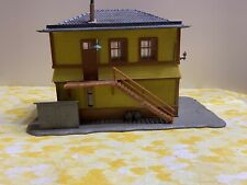 2 STORY HOME HOUSE yellow Pola Depot Old Building Structure for Train Layout